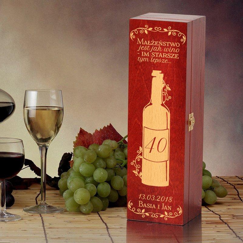 W superbly Pudełko na wino- Rocznica ślubu | Specially4u.pl - Prezenty OT06