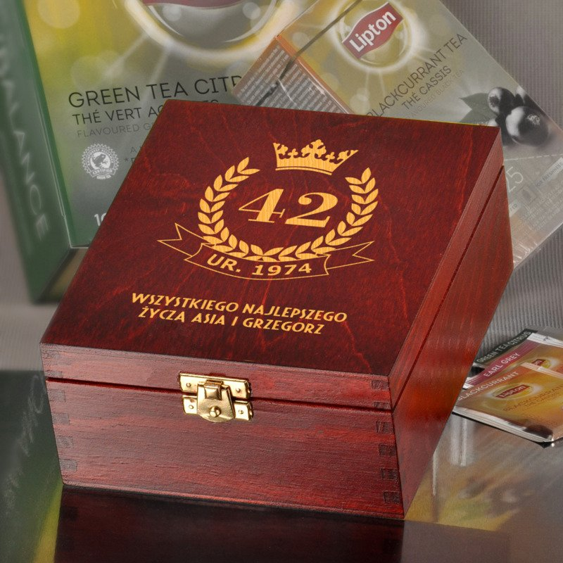 Bardzo dobra Pudełko urodzinowe z herbatą Lipton | Specially4u.pl - Prezenty LX74
