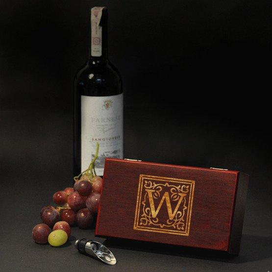 Akcesoria do wina + monogram