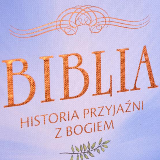 Biblia - Pamiatka Chrztu Świętego - Wózek