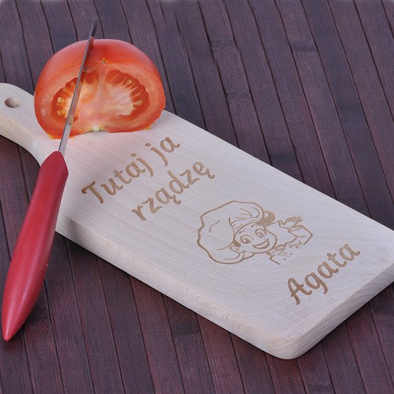 Deska kuchenna dla kucharki