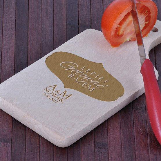 Deska kuchenna z grawerem- Lepiej gotować razem