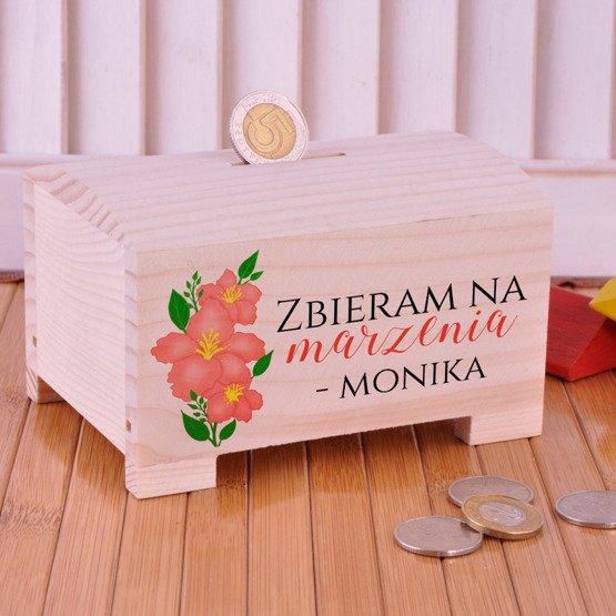 Drewniana Skarbonka - Zbieram na Marzenia