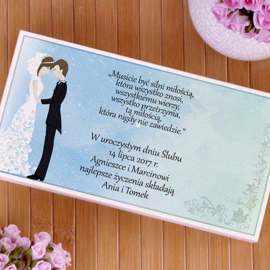 Drewniane pudełko na koperty- prezent na ślub