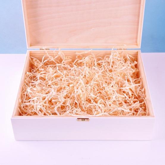 Drewniane pudełko prezentowe - Miś dla chłopca