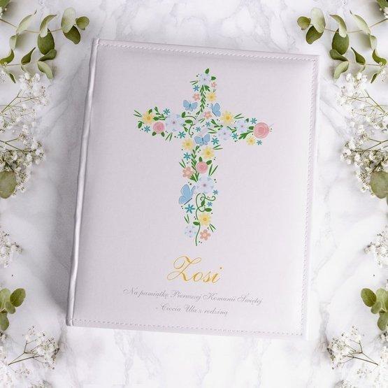 Duży album na zdjęcia z okazji Pierwszej Komunii Świętej