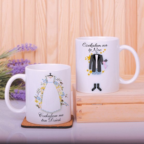 Dwa kubki dla małżeństwa- prezent na ślub