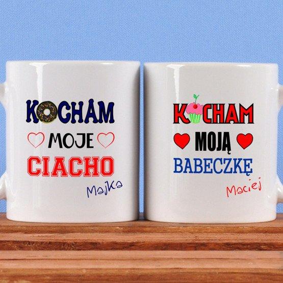 Dwa kubki dla pary- Babeczka i Ciacho