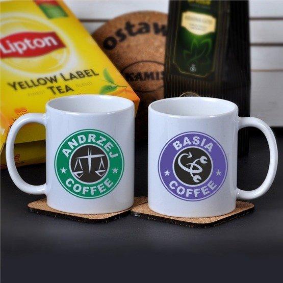 Dwa kubki na kawę dla pary