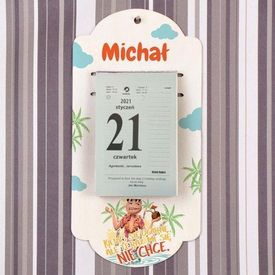 Kalendarz na deseczce z nadrukiem- kiedyś się ogarnę...