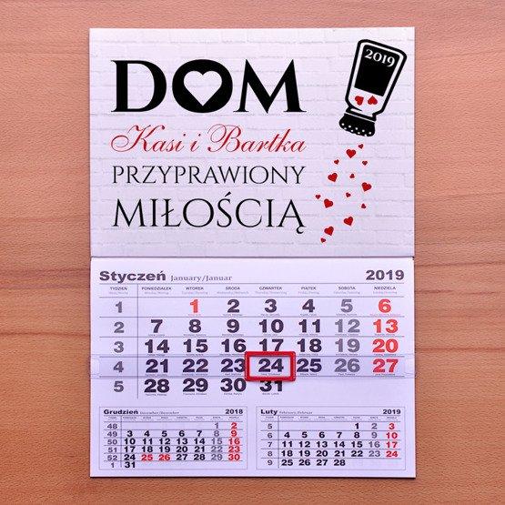Kalendarz ścienny z nadrukiem