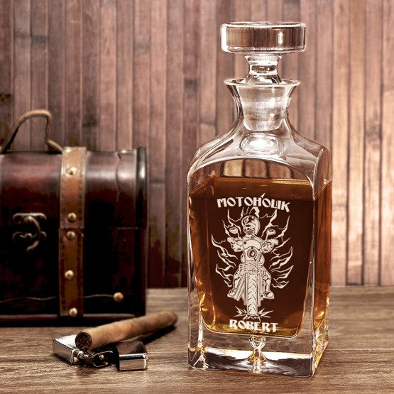 Karafka do whisky- Motoholik- prezent dla motocyklisty