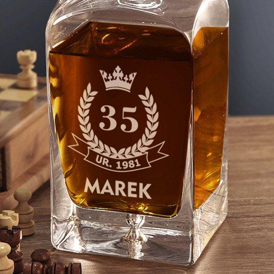 Karafka do whisky- urodzinowa