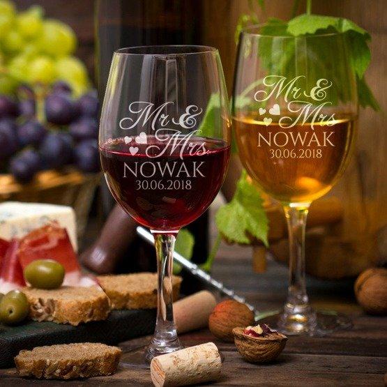 Kieliszki do wina -  Mr&Mrs
