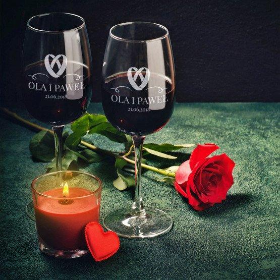 Kieliszki do wina - obrączki