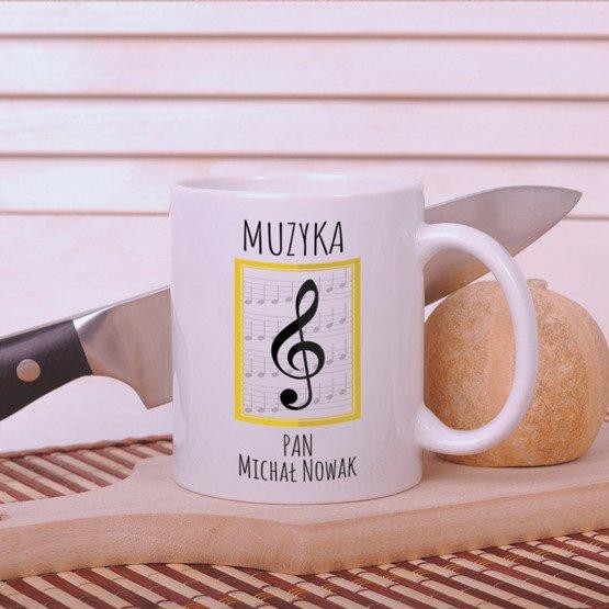 Kubek dla nauczyciela muzyki