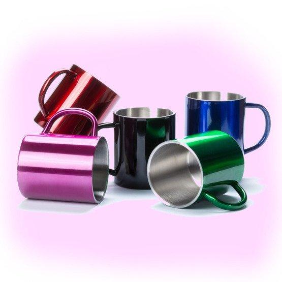 Kubek metalowy-kawa sprawia...