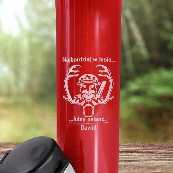 Kubek termiczny 450ml-Najbardzej w lesie...lubię polanę