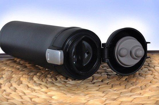 Kubek termiczny 450ml czarny  dla myśliwego