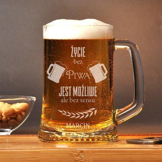 Kufel z grawerem- życie bez piwa jest bez sensu
