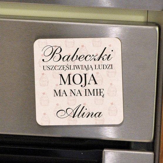Magnes na lodówkę- Babeczki uszczęśliwiają...