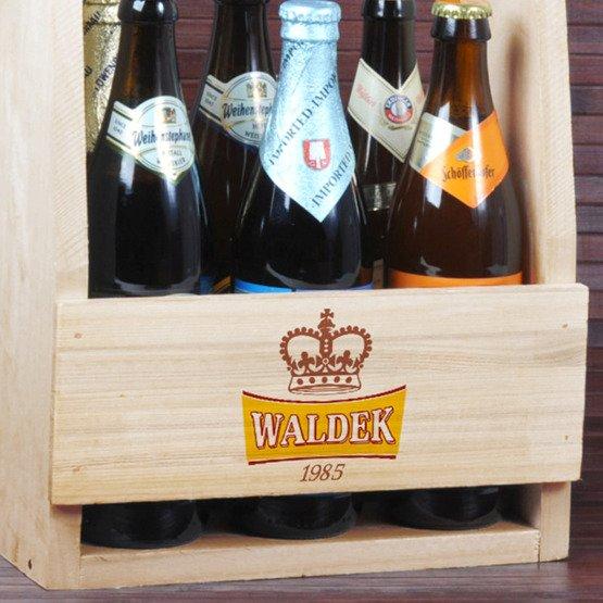 Nosidełko na piwo z nadrukiem