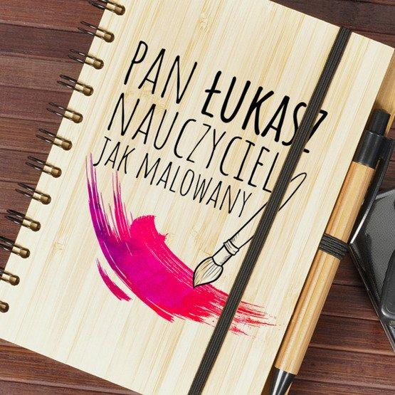 Notes Bambusowy dla nauczyciela - Plastyka