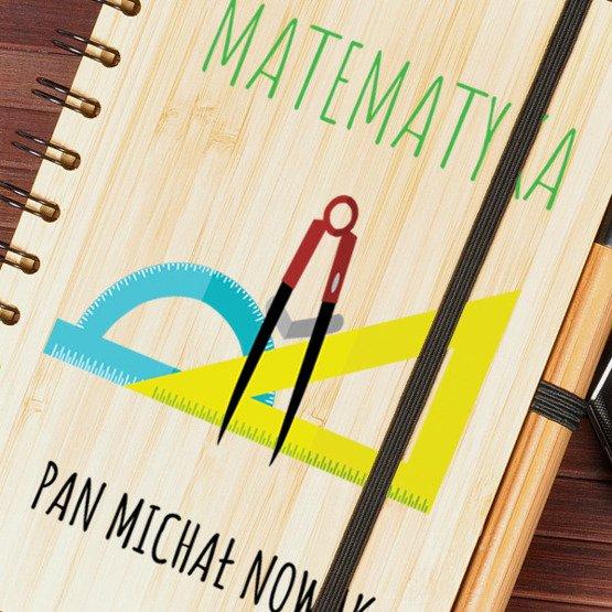 Notes bambusowy dla nauczyciela matematyki