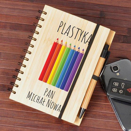 Notes bambusowy dla nauczyciela plastyki