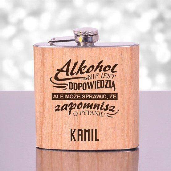 """Piersiówka- """"Alkohol nie jest odpowiedzią..."""""""