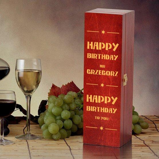 """Pudełko na wino """"Happy Birthday"""""""""""