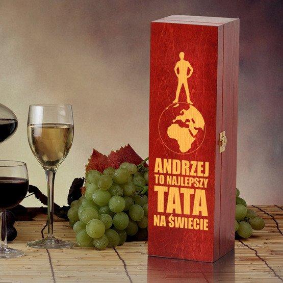 """Pudełko na wino """"Najlepszy na Świecie"""""""""""