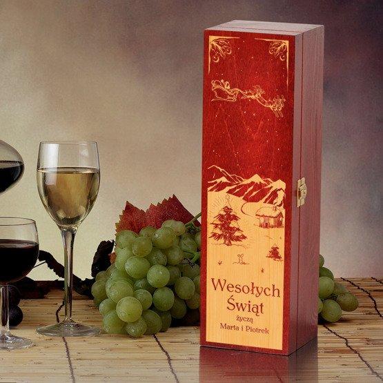 Pudełko na wino- na Święta Bożego Narodzenia
