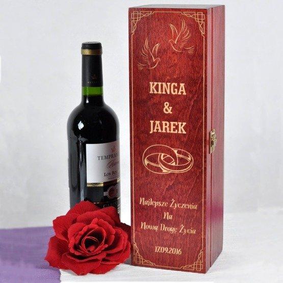 Pudełko na wino- na ślub lub rocznicę