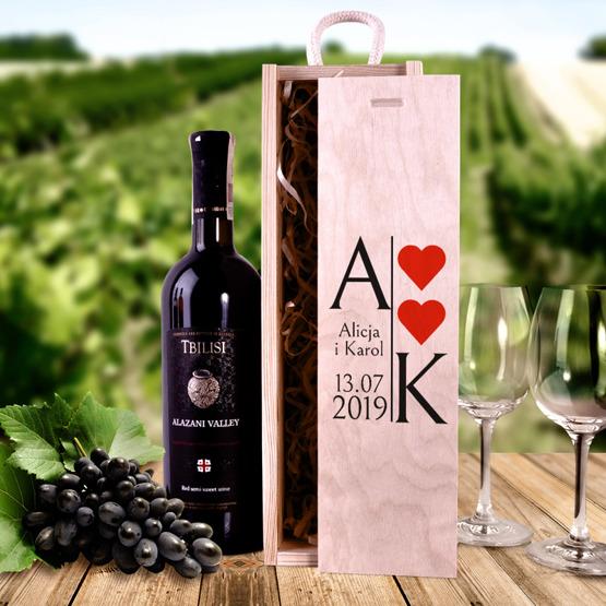 Pudełko na wino - prezent dla pary