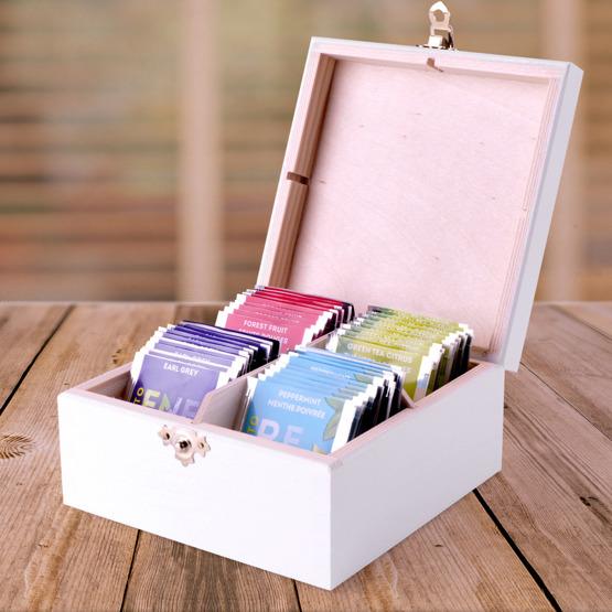 Pudełko z herbatą Lipton - inicjały + data