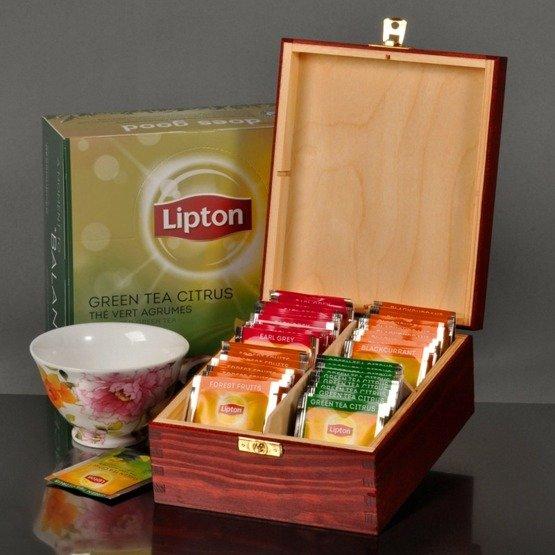 """Pudełko z herbatą Lipton + książeczka """"Dla najlepszej Mamy..."""""""