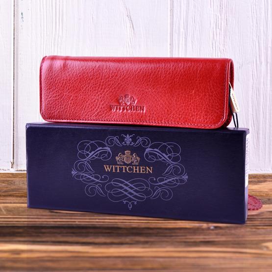 Skórzane etui na długopisy czerwone Wittchen z grawerem