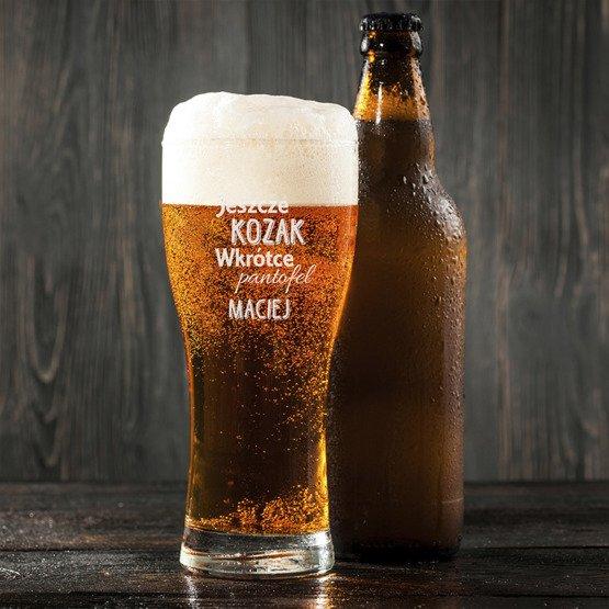 Szklanka do piwa - Jeszcze kozak- prezent na wieczór kawalerski