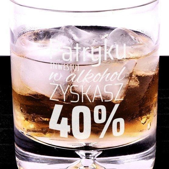 Szklanka do whisky - Inwestuj w alkohol zyskasz 40%