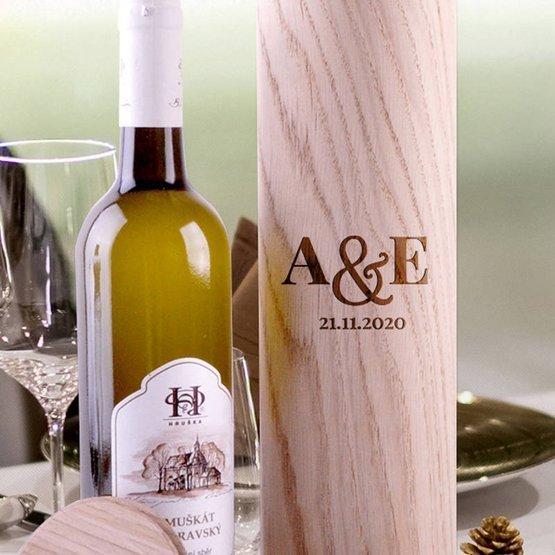 Tuba na wino - pudełko na ślub, rocznicę
