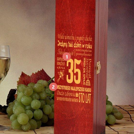 Urodzinowe pudełko na wino