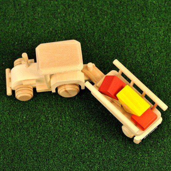 Zabawka drewniana- Traktor