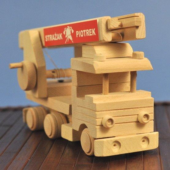 Zabawka drewniana- Wóz strażacki