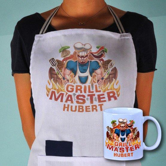 "Zestaw fartuch + kubek ""Grill Master"""