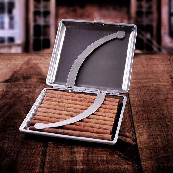 Zestaw prezentowy zapalniczka z papierośnicą - monogram