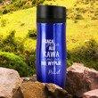 Kubek termiczny niebieski - kawa sama się nie wypije